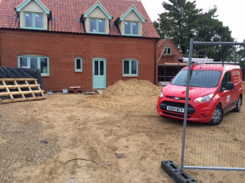 Stolworthy electricians at new build house, north Norfolk